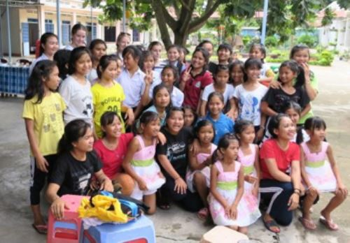 In our Outreach, we support a group of young girls in KonTum, Vietnam